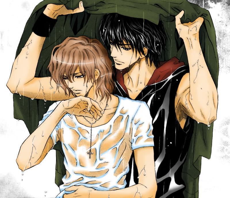 Toshishita no Ryuugi - In the rain, color by drin-chan