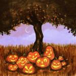 Pumpkin Gathering by RayGunNoey