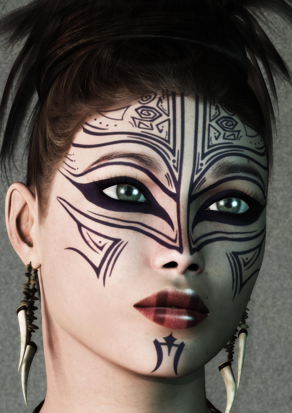 Painted Face By Hartoz
