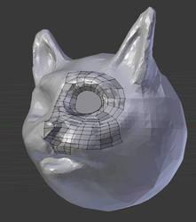 Cat Head Retopo by simdragon90