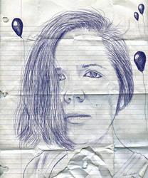 Ballpoint Pen Self-Portrait by simdragon90