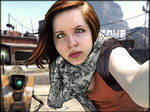 Borderlands Self-Portrait with Claptrap