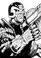 Dredd 2-ink by JohnnyMc