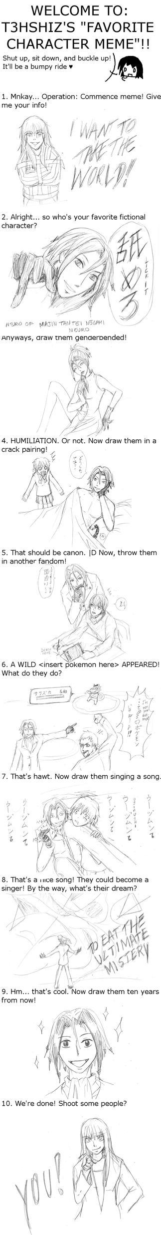 Favorite Character meme: Neuro by Sumomo1001