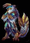 Commission:: Zinogre anthro