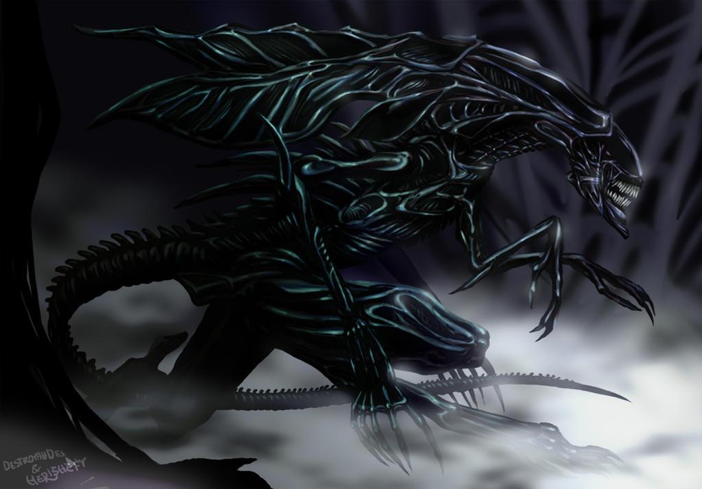collab: Alien Queen by Herisheft on DeviantArt Xenomorph Queen