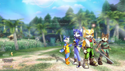 Star Fox adventures and Dinosaur Planet Wallpaper by RedScarf045