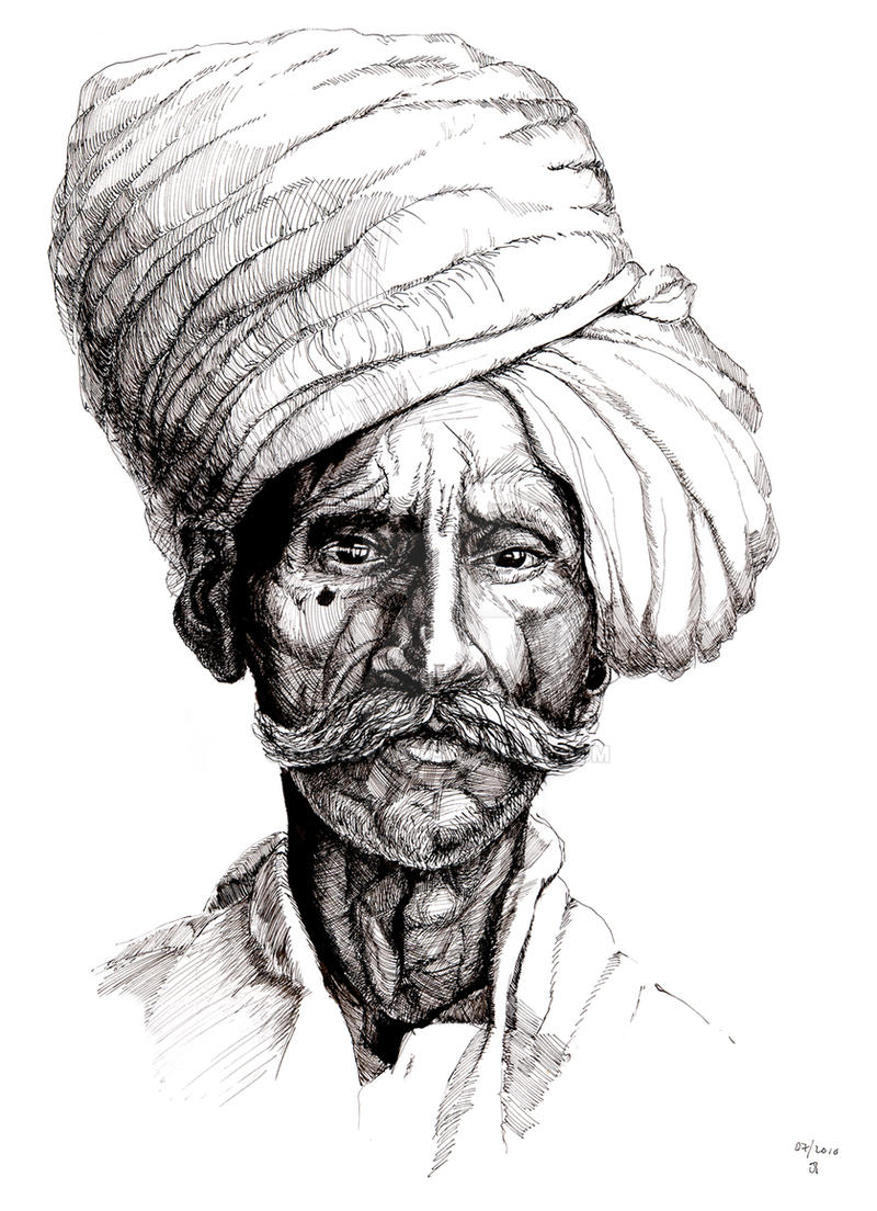 Uncategorized Drawing Of An Indian old indian man by orehovka on deviantart orehovka