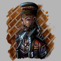 Egyptian Cyborg by KislerArtStock