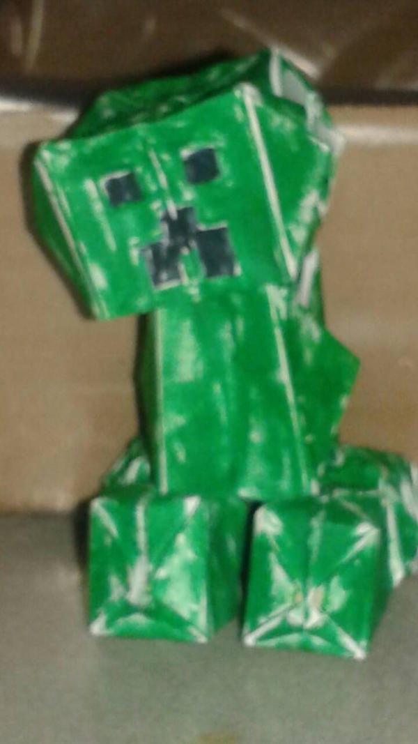 origami creeper by paperflare581 on deviantart