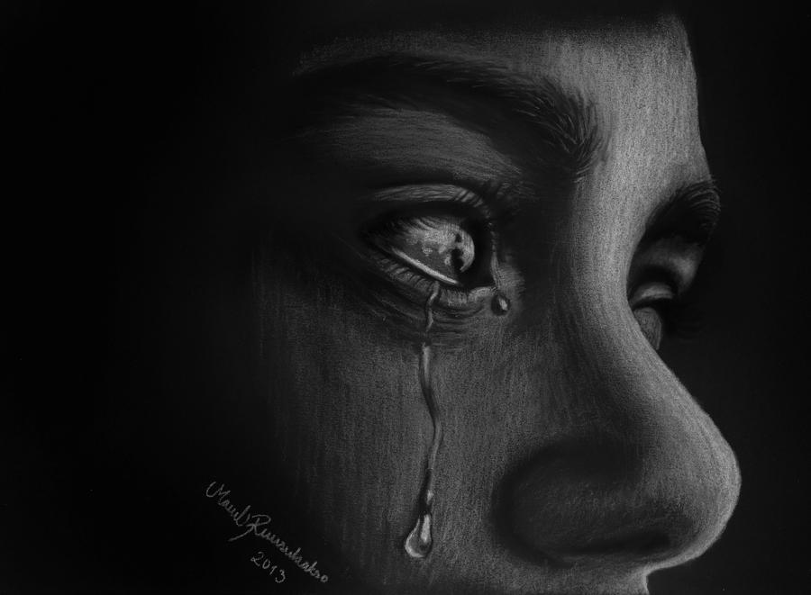 wallpaper of sadness girl
