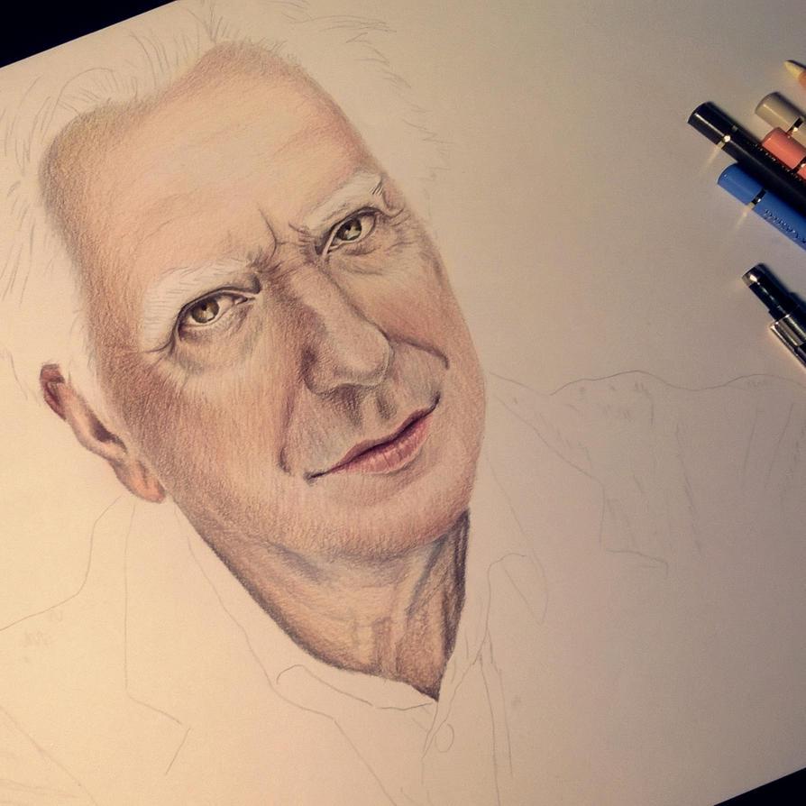 Alan Rickman WIP by ArtOfNightSky