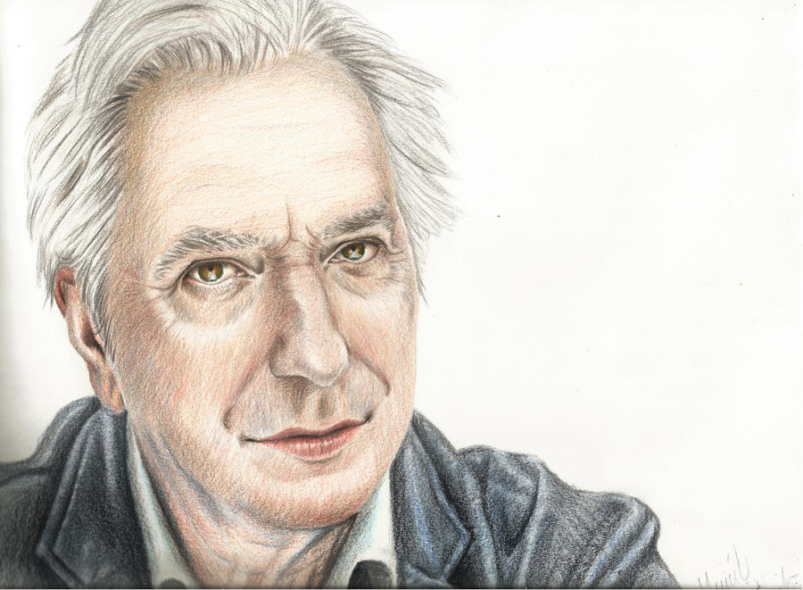 Alan Rickman by ArtOfNightSky