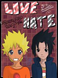 Love/Hate Cover - SasuNaru Doujinshi by danimefreack