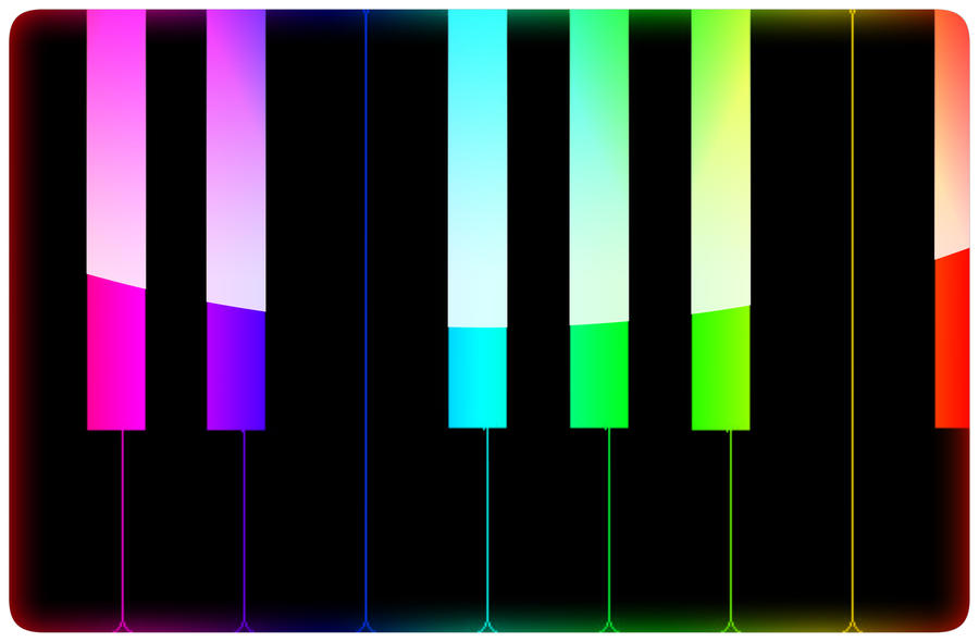 colorful piano keyboard by wishmonster247 on deviantart