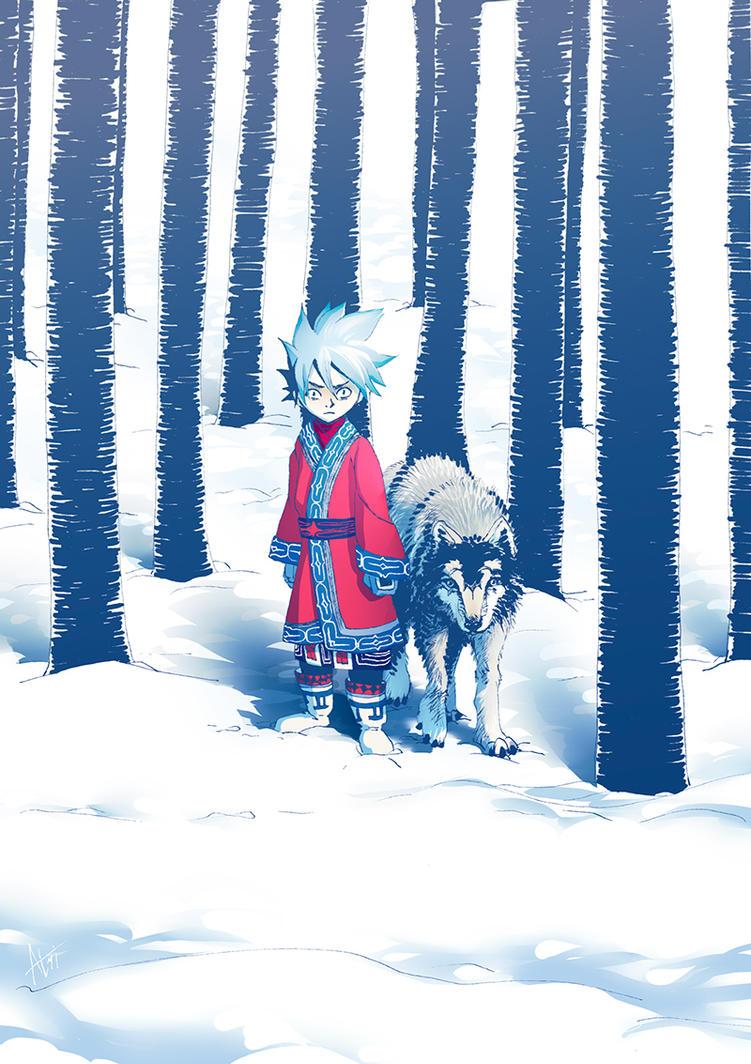 Wolf syt by Atrika
