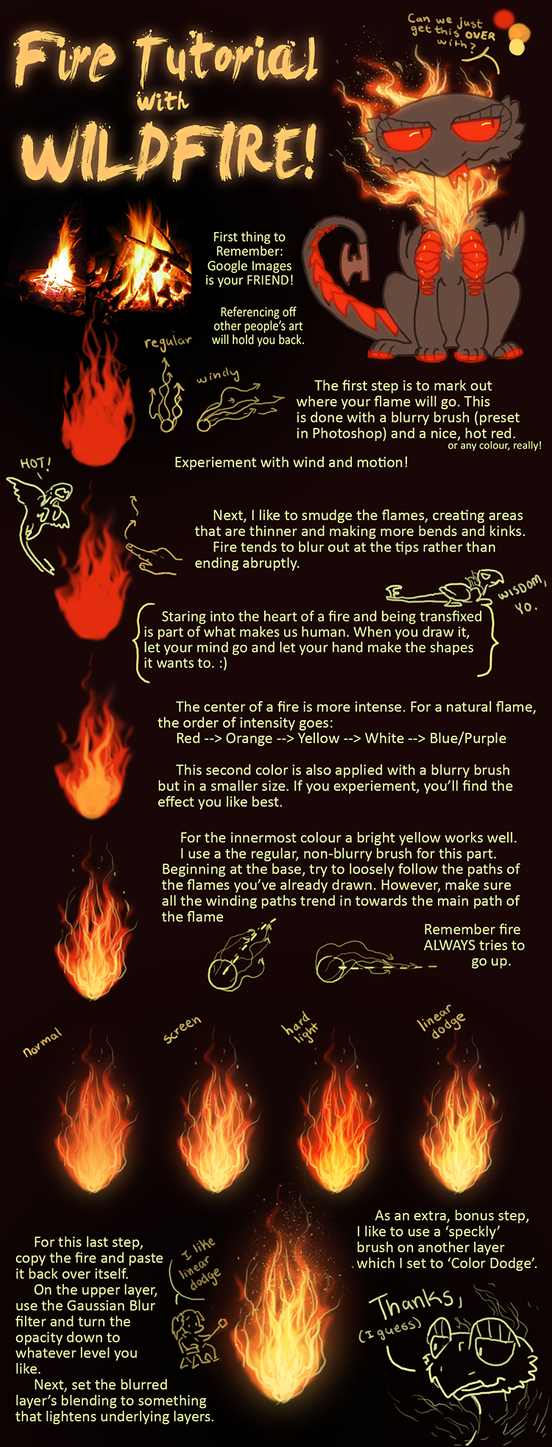 how to draw realistic fire digitally