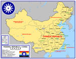Map of the Federal Republic of China