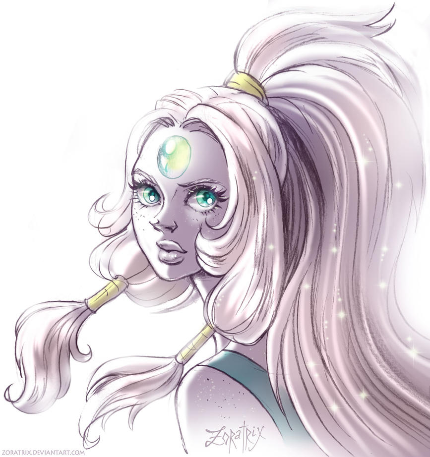 I started watching Steven Universe, and I liked it! Most of all I liked the possibility of the fusion, and I want to draw all of this amazing creatures. Opal is my fav, so she's the first ♥&#...