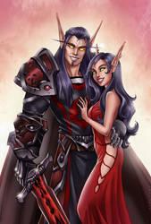 C: Baldar and Eryis by Zoratrix