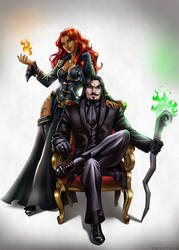 C: Mr and Mrs Thalsian by Zoratrix