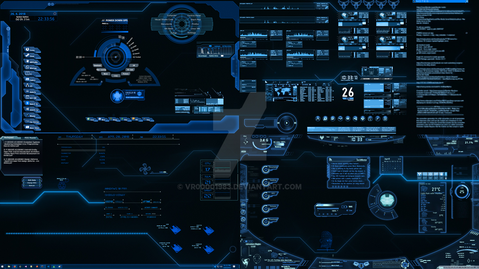 4K J A R V I S Desktop by vr00001983 on DeviantArt