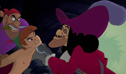 Peter Pan Nude with Captain Hook