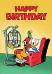 Donald Duck Birthday Card