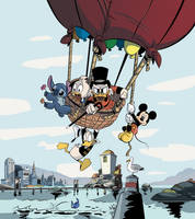 Ducktales Suitcase Illustration