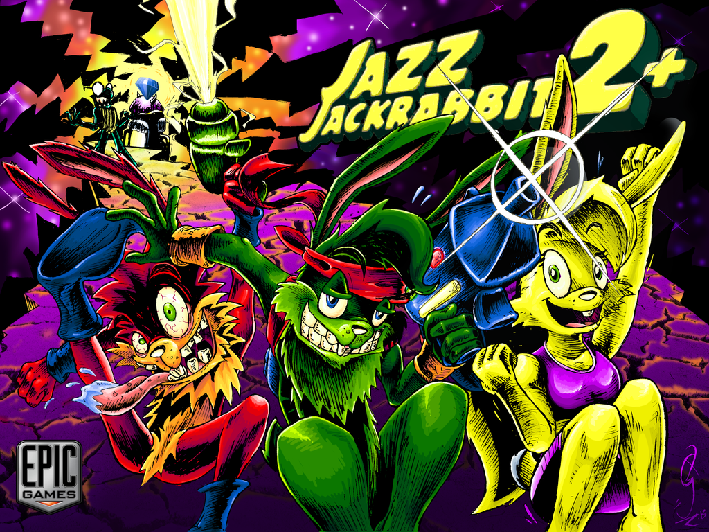 Jazz Jackrabbit 2+ Contest Splash by JSZ-JaZz