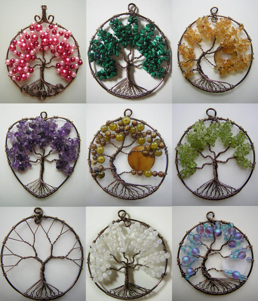 Tree of life pendant collage by pinkfirefly135 on deviantart for How to make a wire tree of life sculpture