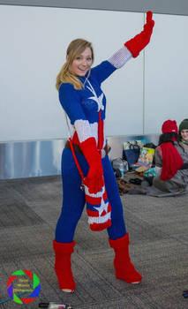 Tah-Dah!  (Knitted Captain America - Marvel)