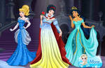 Cinderella, Snow White And Jasmine