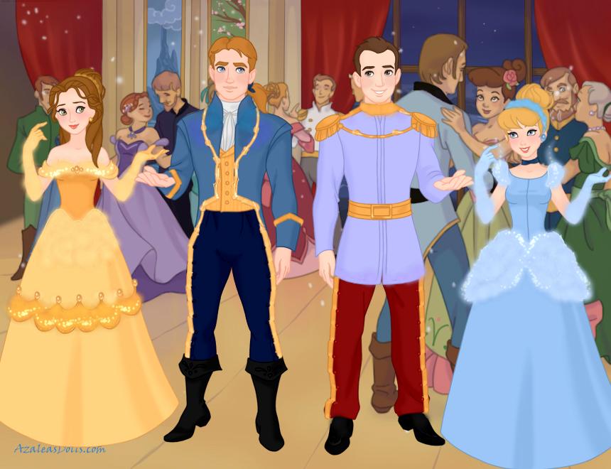 Belle AdamCinderella Prince Charming Couples3 By AdrianaTheGirlOnFire