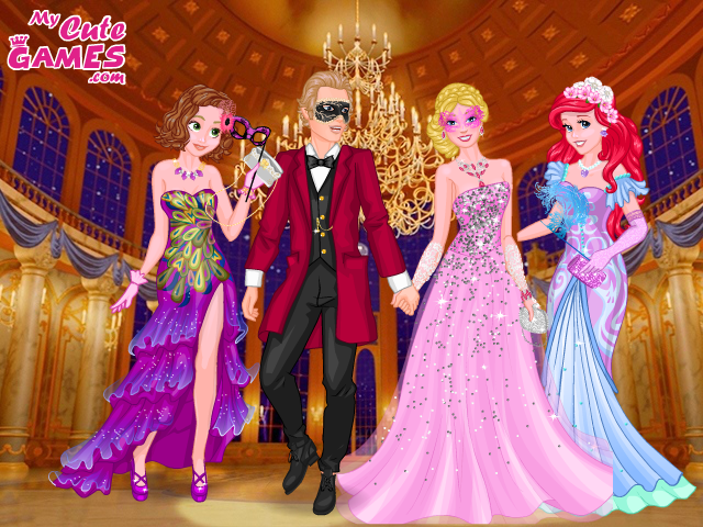 Barbie And Ken,rapunzel And Ariel Masquerade Ball by