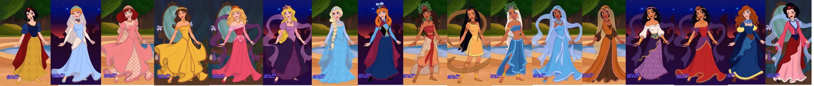 disney princesses Arabian style by adrianaTheGirlOnFire