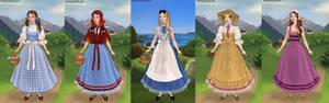 Dorothy,red riddign hood,alice,jane,megara part6