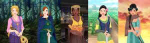 Rapunzel,merida,tiana,mulan,jasmine p2