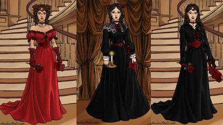 Me In Southern Belle Game,wednesday and morticia by adrianaTheGirlOnFire