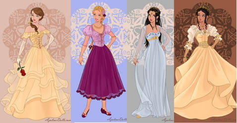 Belle,rapunzel,jasmine,pocahontas part3 by adrianaTheGirlOnFire