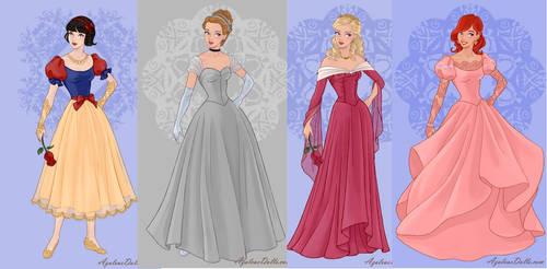 Snow White, Cinderella,Aurora,ariel part1 by adrianaTheGirlOnFire