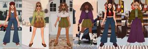 winx girls in 70s vibe