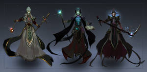 Commission: Lichs - concept sketches