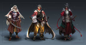 Commission: skeleton warriors - concept sketches