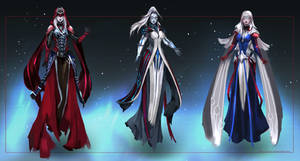Commission: Priestesses - concept sketches