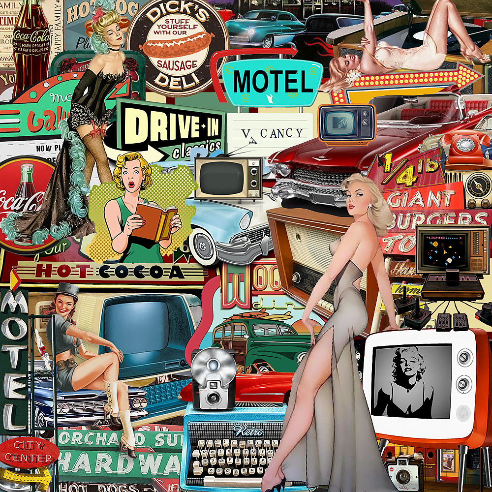 vintage collage by illicitwriter | Interesting Art | Pinterest