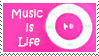 music is life stamp by Star-buckDevstamps