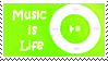 music is life stamp green by Star-buckDevstamps