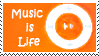 music is life stamp orange by Star-buckDevstamps