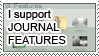 I support journal features by Star-buckDevstamps